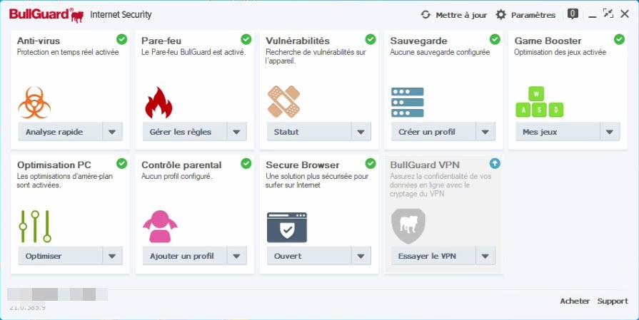 Bullguard antivirus captura