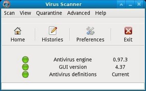 ClamTK Antivirus Linux