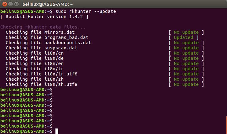 Rootkit Hunter Antivirus para Linux