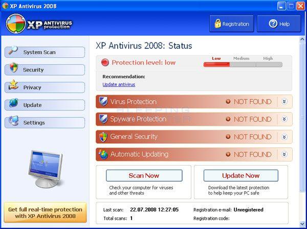 Windows XP Antivirus